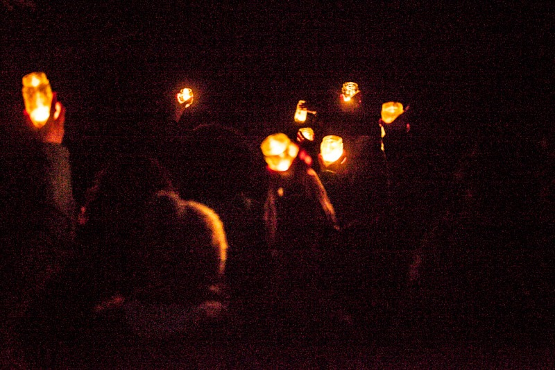 Procession with candles