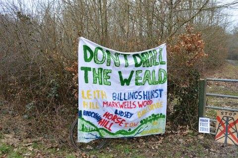 dont drill the Weald sign